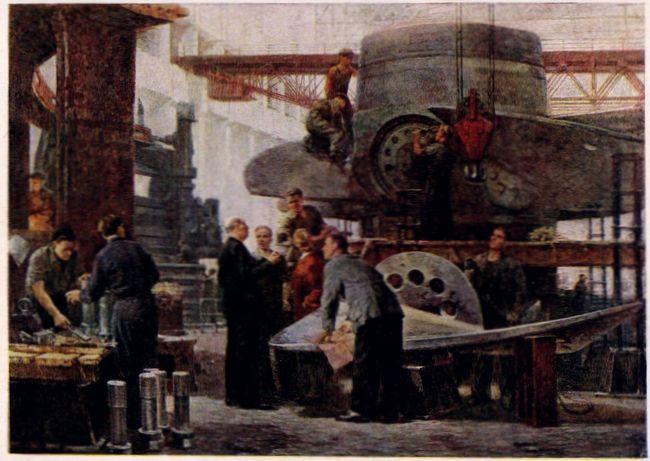 Сбор турбины для Цимлянской ГЭС